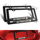 2PCS MS MAZDASPEED Car Trunk Emblem with Black ABS License Plate Tag Frame