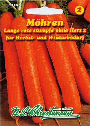 Möhren,lange,rote,ohne Herz,Saatgut,Daucus carota,Gemüse,Chrestensen,NLC 2