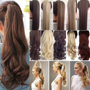 Real-Thick-Clip-in-Ponytils-Hair-Extensions-Blonde-Brown-Ponytail-Hairpiece-hg27