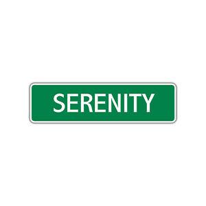 Serenity Girls Name Letter Printed Label Art Decor Novelty ...