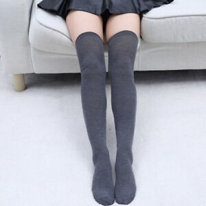 Thigh High Over The Knee Long Socks                      Cotton Stockings