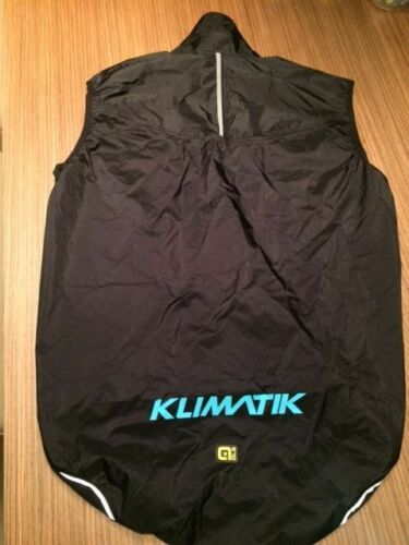 Ale Cycling Rainproof Vest Klimatik K-Elements-Black BRAND NEW