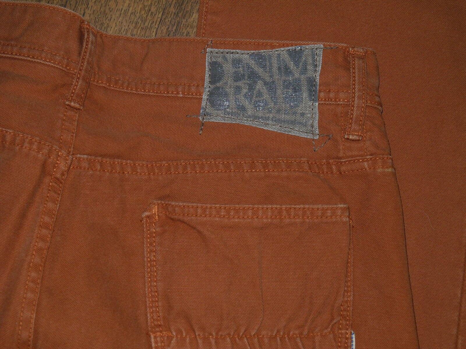c0a5e47f327 DENIM CRAFT Fit Mid Straight Leg Men s orange Jeans Sz 34x32 ...