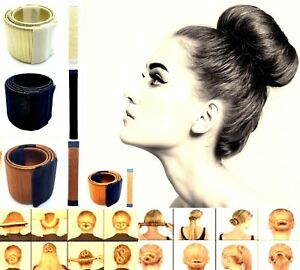 Hair-Bun-Snap-Glamza-Women-039-s-Magic-Styling-Donut-Former-French-Twist-Band-Maker