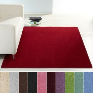 Conception-De-Poil-Court-Tapis-Uni-monochrome-rouge-vert-rose-creme-brun-mauve