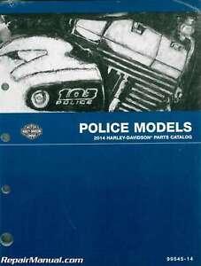 2014 Harley Davidson Police Motorcycle Parts Manual 99545 14 Ebay