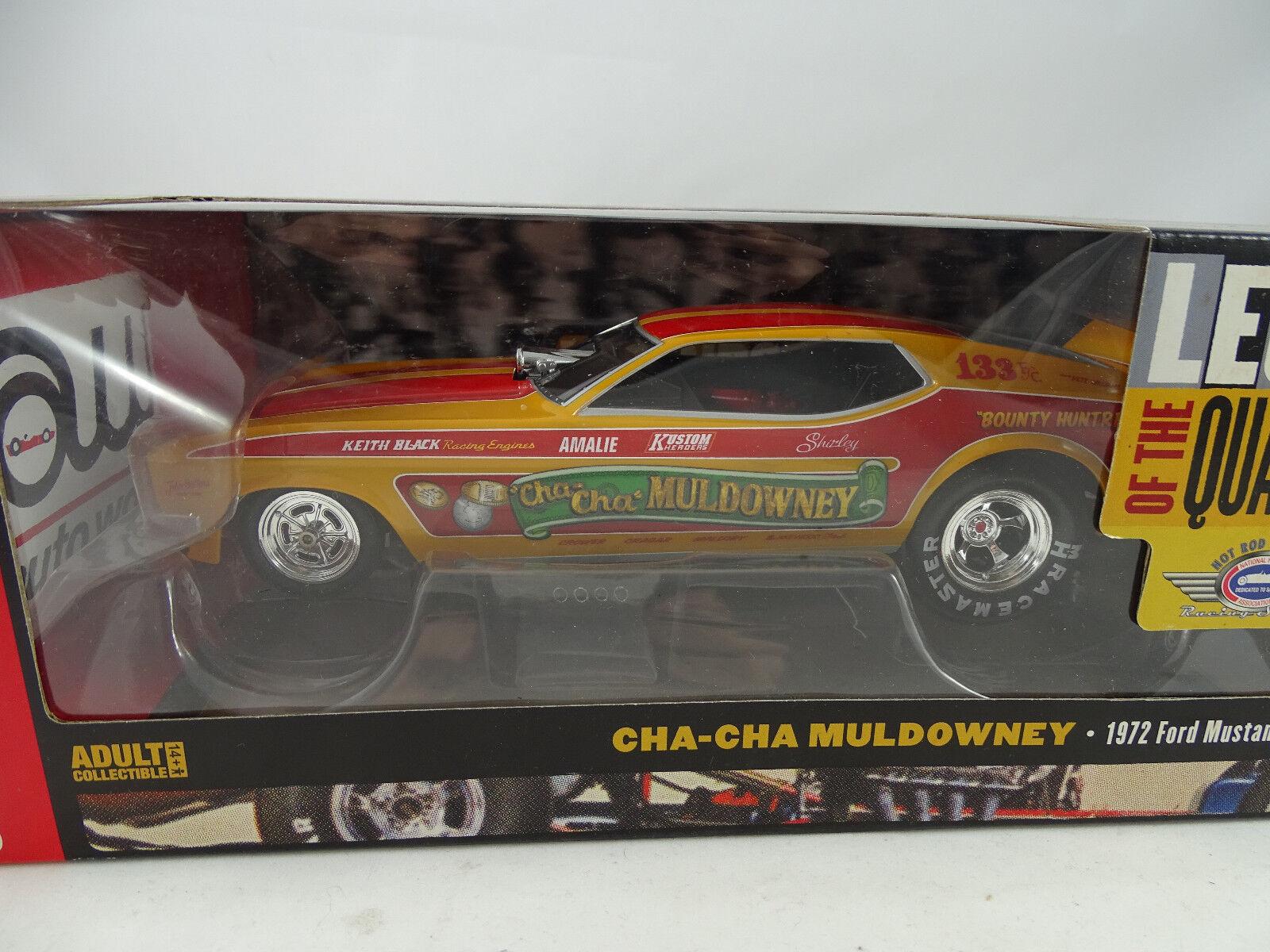 1 18 AUTOWORLD   Ertl - 1972 Ford Mustang CHA-CHA Muldowney NHRA FUNNY CAR