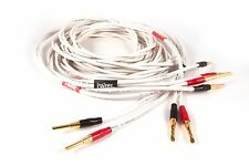 Black Rhodium Twirl speaker cable 2mt terminated with gold Z banana plugs by BR