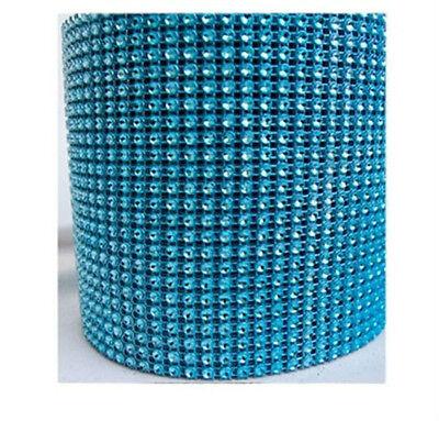 "4.75""x10 Yards DIAMOND MESH WRAP ROLL SPARKLE RHINESTONE Crystal Ribbon"