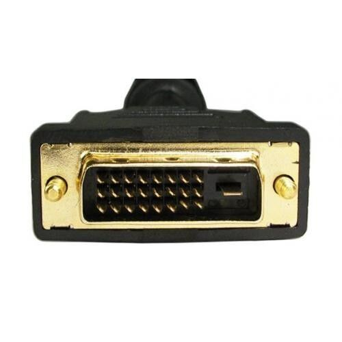 DVI-D Dual Link M//M Cable w//Ferrites and Gold Connector 24+1 Pin 6Ft. 6 Feet