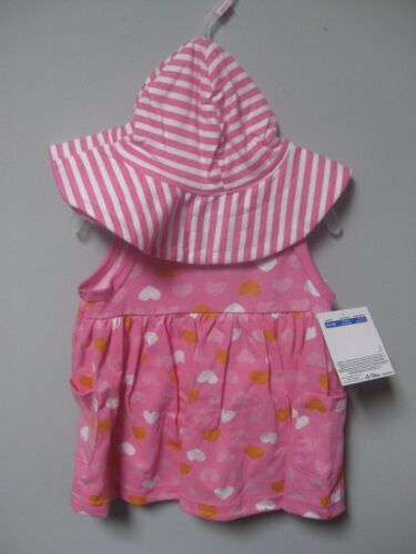 Gerber Baby Girl 3-Piece Pink Hearts Dress Cap /& Panties Set BABY CLOTHES GIFT