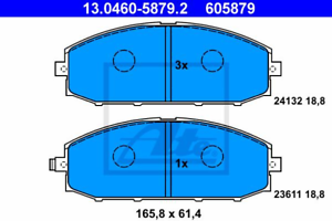 Bremsbelagsatz Frein À Disque-UAT 13.0460-5879.2
