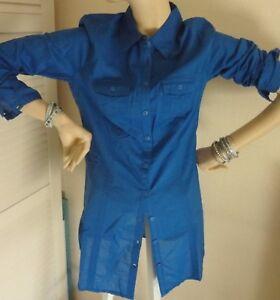 656b519c872b stylische Street One long Bluse gr.36 langarm Oberteil königsblau   eBay