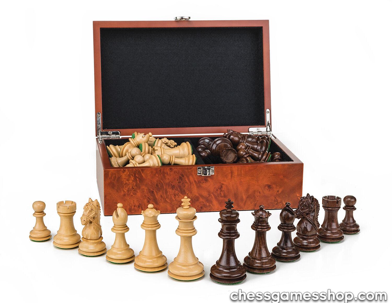 Luxury handmade wooden chessmen-CHESS chessmen-CHESS chessmen-CHESS pieces-weighted felted-EXTRA queens-in BOX ce7cbc