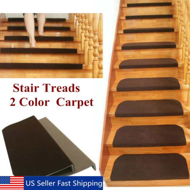 Awesome 1 13Pcs Set Non Slip Carpet Stair Tread Mats Staircase Step Rug Protection  Cover