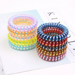 10-PCS-Rubber-Telephone-Wire-Hair-Ties-Spiral-Slinky-Hair-Head-Elastic-Bands