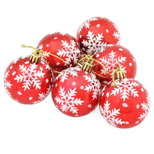 Durchmesser Weihnachtsbaum.6 Stuecke Weihnachtsbaum Kugeln Durchmesser 6 Cm Schneeflocke Farbe