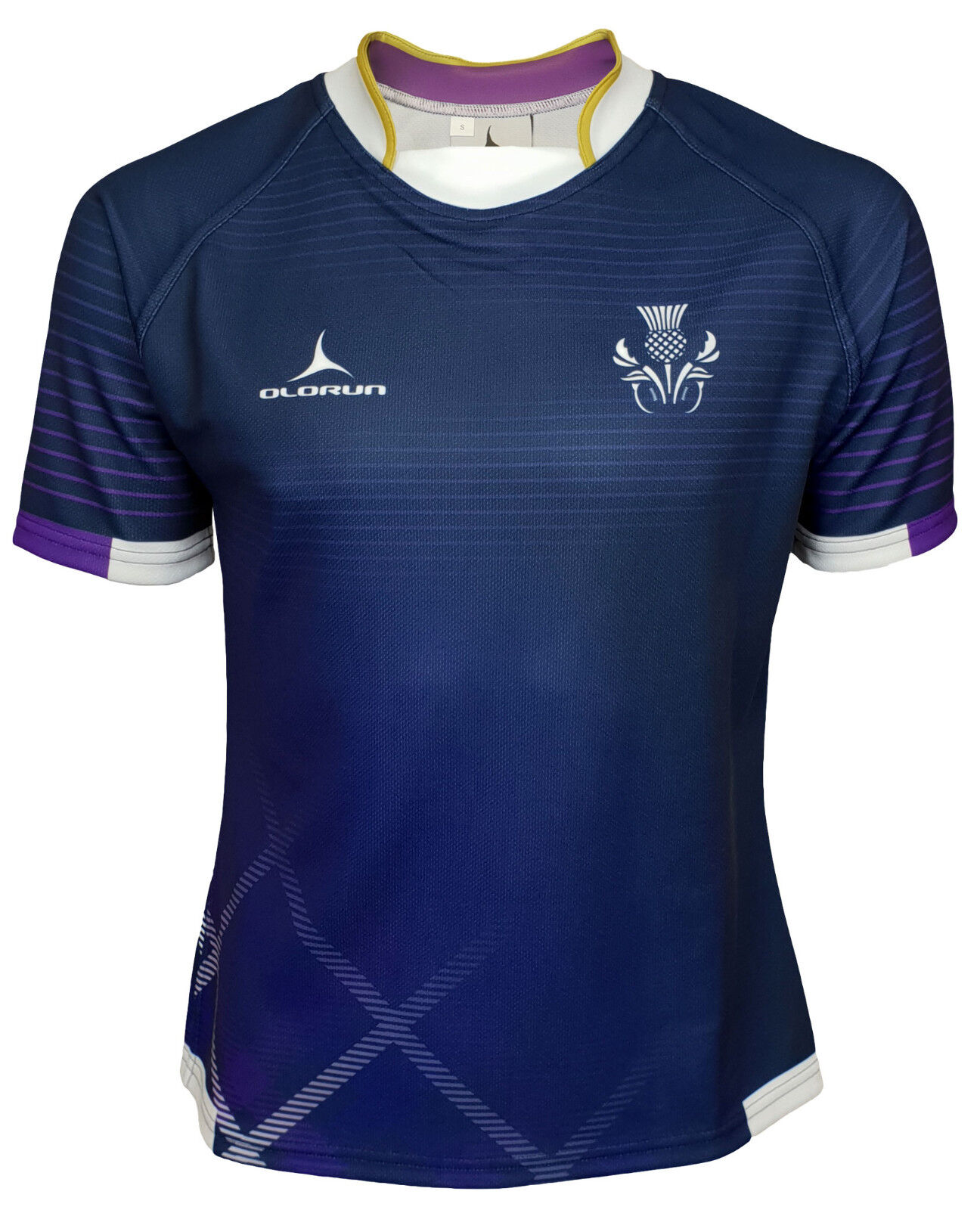Olorun Scotland Contour Home Nations Rugby Shirt XS - 6XL