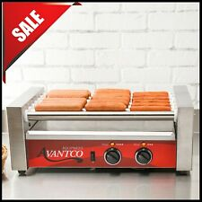 Avantco Commercial 18 Hot Dog Roller Grill With 7 Rollers Non Skid 120v 590w