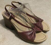 Women's Dansko Naomi Brown Leather Wedge Sandals  Sz. 41 / 10.5 - 11 M