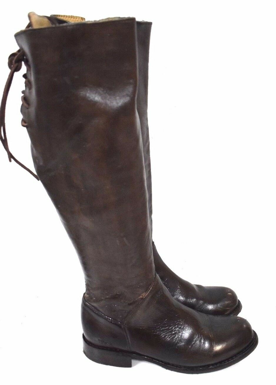 Bed Stu Manchester Teak Glaze Cobbler Series Tall Lace Up Leather Boot Sz 7  2