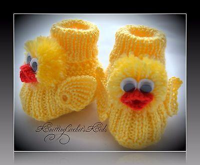 1 pair Handmade knitting baby slippers