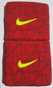 Nike-Swoosh-Wristbands-3-034-Graphics-Red-Adult-Unisex-New