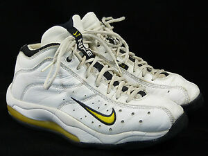 1998 Nike Air Team Max Zoom Sz 12 white black-yellow - 98 super tb ... 0291754e1