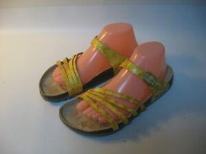 Betula-Birkenstock-Borneo-Sandals-Women-039-s-Yellow-Snake-Slides-EU-40-L9-M7