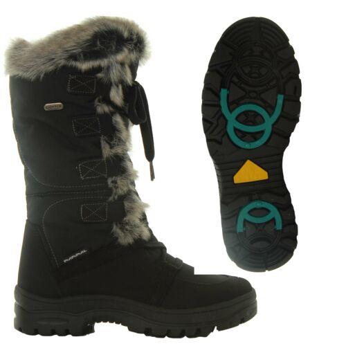 Mammal Womens Winter Ice Grip Full Height Boots Lucia OC Black