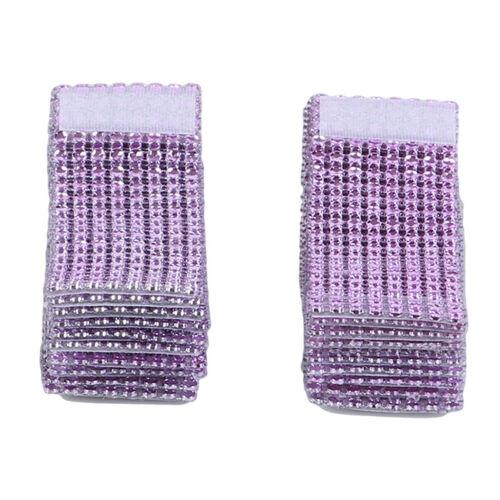 20X Sparkle Diamond Napkin Ring Serviette Holder Wedding Banquet Dinner Decor J