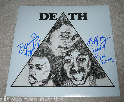 Energetic A Band Called Death Signed 12x12 Record Flat Photo B W/coa Bobby Hackney Dannis Music Rock & Pop