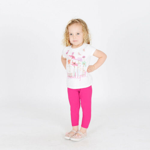 Mädchen Kinder Baumwollleggings Gesamtlänge Alter 2 3 4 5 6 7 8 9 10 11 12 13