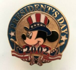 Disney-Pin-12-Months-of-Magic-President-039-s-Day-2002-Uncle-Sam-Mickey-3D