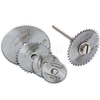 5ST Saw Blades Rad abschneiden HHS Rotary w/ Dorn für Dremel Werkzeug Scheiben