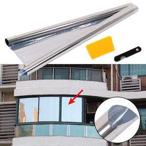 Pellicole adesive controllo solare a specchio finestre vetri 20 solar 75 5cmx1m ebay - Finestre a specchio ...