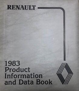 1983-Renault-Product-Information-amp-Data-Book-Sales-Reference-Dealership-Item