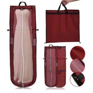 Details About Wedding Evening Dress Bridal Gown Garment Dustproof Cover Storage Bag W Handle