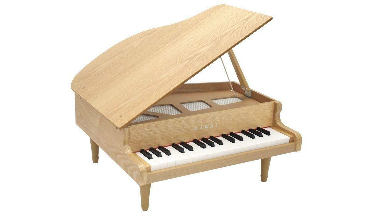 32Key Musical Instrument Toy KAWAI Mini Grand Piano 1144 Natural from Japan F S