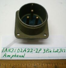 1 An3102a22 2p Military Box Connector Amphenol Lot 311 Made In Usa