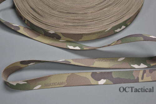 1 inch 25mm MilSpec Multicam Nylon Webbing Double Sided 10 Yards Made by MMI