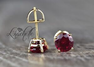 2-0-ct-Round-Cut-Ruby-Screw-Back-Earring-Studs-14K-Yellow-Gold