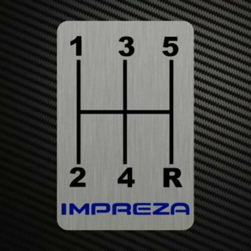 IMPREZA GEARSHIFT H-PATTERNS Sticker Decal Gearbox Transmission Manual Race