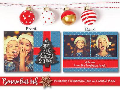 Printable Photo Christmas Card Custom