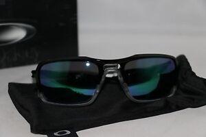9945457dfaac3 Image is loading OAKLEY-Triggerman-Mirrored-Rectangle-Sunglasses-Black -Jade-009266-