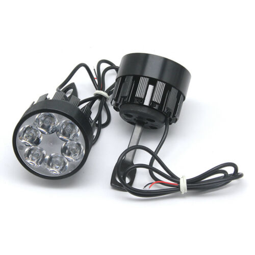 2Pcs Universal LED Motorcycle Spot Light Driving Spotlight Assist Fog Lamp