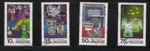 SINGAPORE 1986 25 YEARS OF INDUSTRIAL PROGRESS COMP SET 4 STAMPS SC#487-490 USED