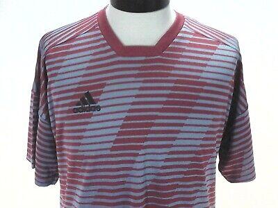 ADIDAS Jersey Shirt Football Tango Climalite Red Gray Striped CG1864 Mens M New 191034645265 | eBay