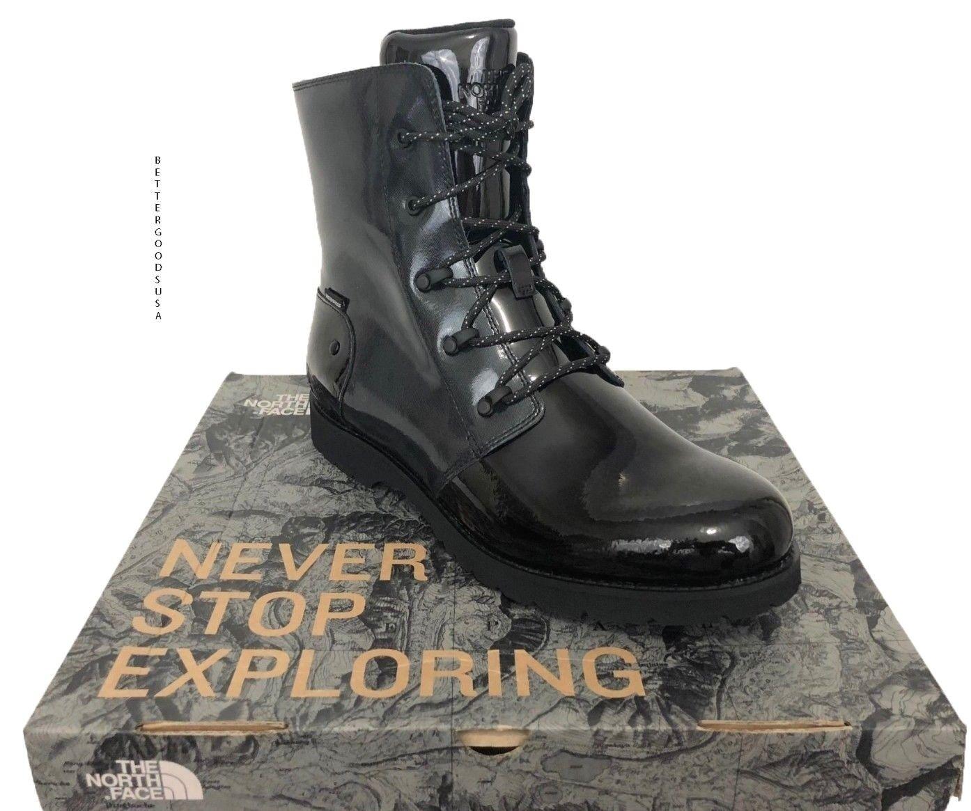 The NORTH FACE donna BALLARD RAIN stivali Waterproof Lace Combat nero, grigio 10 M