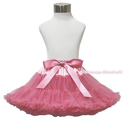 Dusty Pink Adult Woman Girls Pageant Full Chiffon Pettiskirt Party Tutu Dress